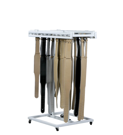 FW-77 Lifting Belt Rack with Wheels
