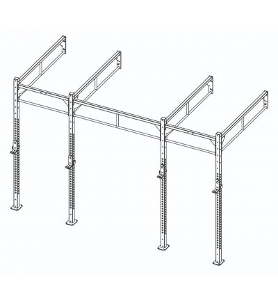 CTHW Custom Rig - Double Sided Multi-Hole Uprights (Wall Mounted)