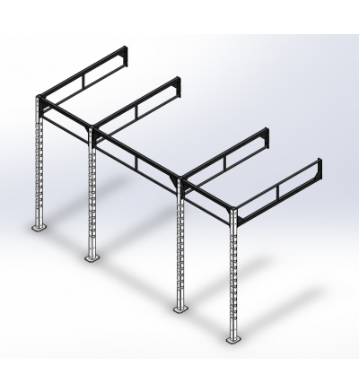 CTW Custom Rig - Standard Laser Notched Uprights (Wall Mounted)