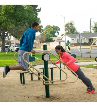 2-Person Push-Ups & Dips Station