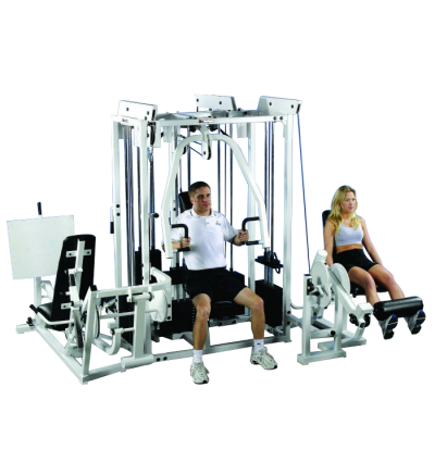 P-130E-2 5-Stack Multi-Gym w/Leg Press