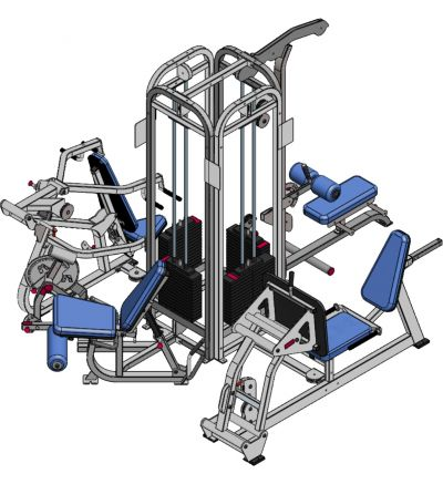 P-235-2 4 Stack Multi-Gym