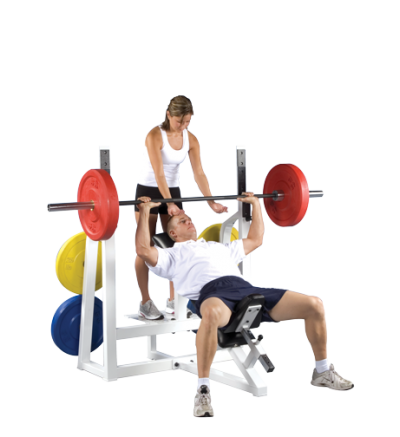 PL-23 Incline Bench w/Weight Plate Storage