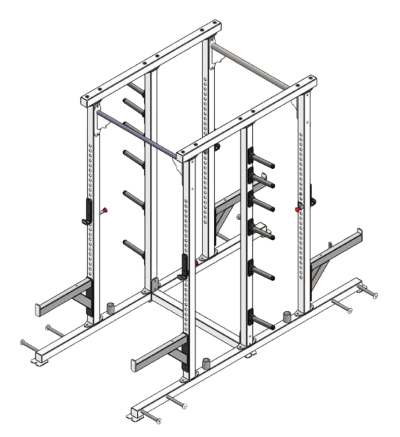 PL-46A Economy Double Sided Half Rack